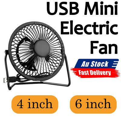 AU15.69 • Buy USB Powered Portable Table Fan Mini USB Desk Fan Small Quiet Personal Cooler