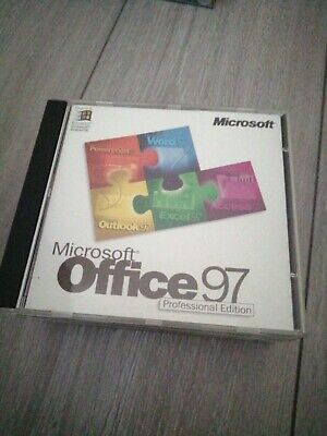 Microsoft Office 97 Standard Upgrade Windows Word Excel Outlook With Product Key • 12.99£