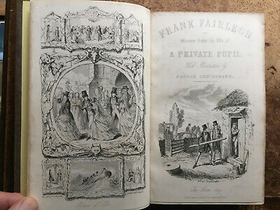 1850 Frank Fairlegh:Scenes Of Life Of Private Pupil-30 Plates George Cruikshank • 4.95£
