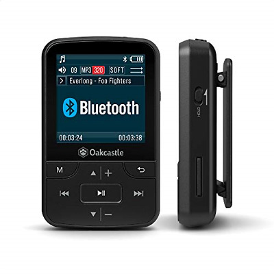 Oakcastle MP100 8GB MP3 Player With Micro SD Slot Bluetooth Wireless And Long SD • 23.99£