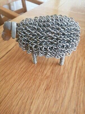Wiggle Sheep / Lamb Handmade Stretched Coiled Wire Farm Yard Animals Ornament • 12£