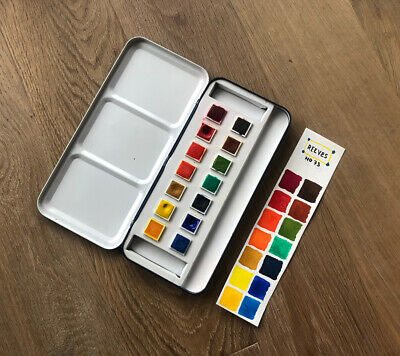 Reeves No73 Watercolor Paint Set Metal Box Made In England • 7.90£