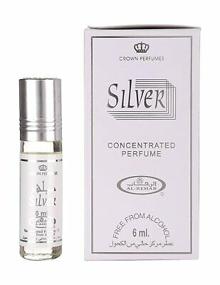 Al Rehab Perfume Silver Roll On Attar Non Alcohol For Men 6 Ml Each Pack Of 5  • 23.99£