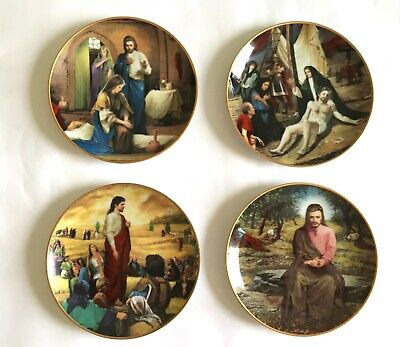 Set Of 4 Life Of Jesus Vintage Plates With Signature Of The Artist Lou Marchetti • 16£