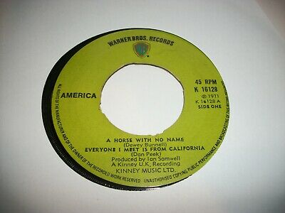 America- A Horse With No Name Vinyl 7  45rpm P Jukebox • 1.25£
