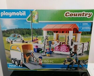 Playmobil Infant Country Farm Play Set 70325 Stables , 4 Figures And 3 Horses • 36.99£