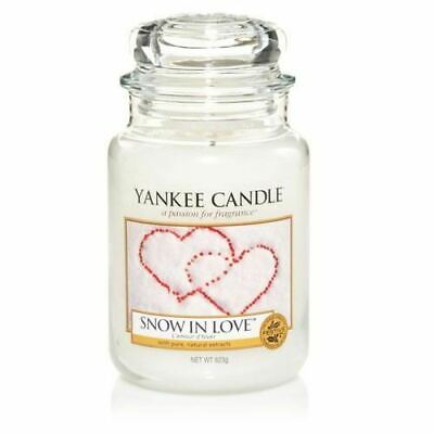 Yankee Candle 1249712E Snow In Love Large Jar Candle - White • 22£
