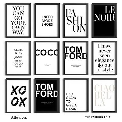 £24.99 • Buy Fashion Prints Beauty Designer Posters Salon Wall Art Bedroom Decor Picture Sign