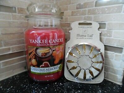 Yankee Candle 22oz (Christmas Memories) Gift Wrapped + Illuma-Lid • 21£