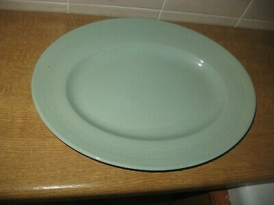 Oval Serving Plate - 'beryl' By Woods Ware - Good Condition • 3.50£