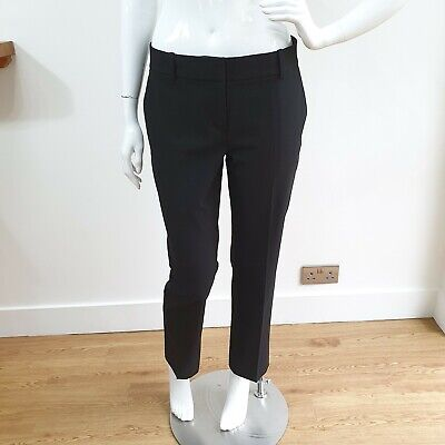 ANN TAYLOR Black Tailored Suit Trousers Size UK 10 US 6 Tapered  • 12.99£