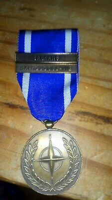 French Foreign Legion Nato Ex Yugoslavia And Balkans Medal With Two Barrettes • 14.50£