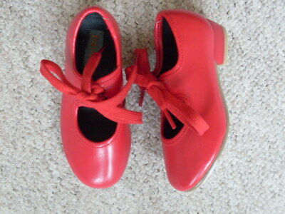 Girls Tap Dancing Shoes, Size 6 Infant, Red,  Dance Gear  Only Worn Once, . • 3.99£