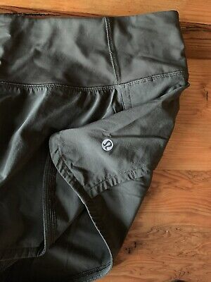 $ CDN40.22 • Buy Lululemon SPEED UP SHORTS 4  LINED Olive Green 10 NEW