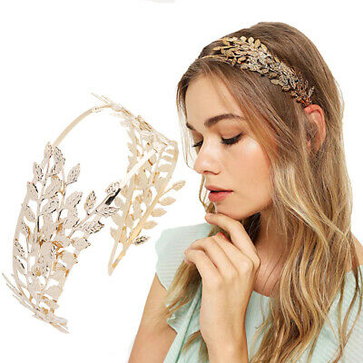 $ CDN6.55 • Buy Ladies Leaf Metal Hairband Headband Wide Hair Band Wedding Hair Accessories