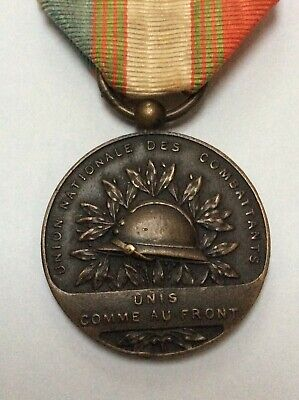 WW1 French Merit Medal Of The UNC French Veterans WW1 Full Size Medal 99p Start • 0.99£
