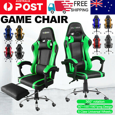 AU135 • Buy Gaming Chair Office Executive Computer Chairs Seating Racing Recliner Backrest