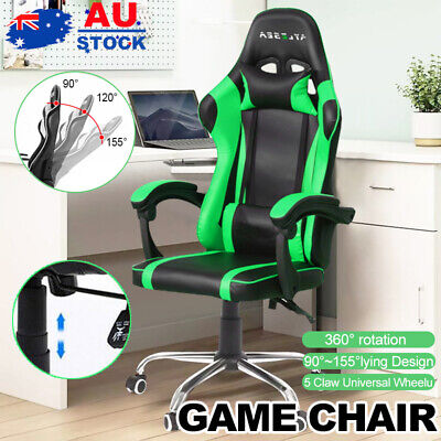 AU123 • Buy Executive Office Chairs Computer Gaming Chair Racer Recliner Seat PU Leather GR