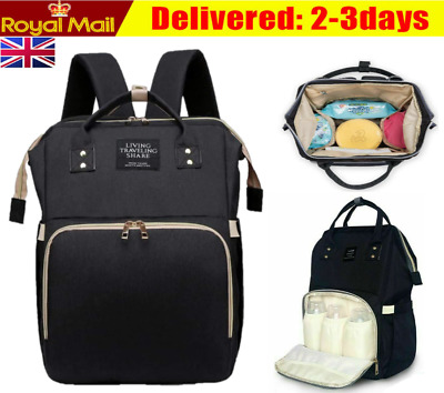Baby Diaper Nappy Mummy Hospital Backpack Maternity Changing Bag Multifunction M • 9.39£
