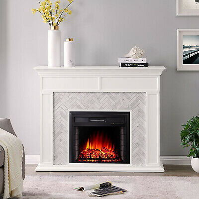 £99.95 • Buy Remote Contro Electric Fire Fireplace 2KW LED Flat Glass Wall Heater Inset Stove