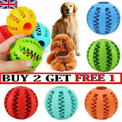 £4.89 • Buy Pet Dog Puppy Rubber Ball Rubber Ball Teething Durable Treat Clean Chew Toy UK