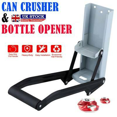 £7.82 • Buy 2 In 1 LARGE 16OZ BEER TIN CAN CRUSHER WALL MOUNTED RECYCLING TOOL BOTTLE OPENER