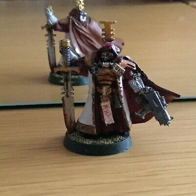 Warhammer 40k Demon Hunters Inquisitor Painted  White Metal Figure And Base   • 6.99£