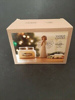 Yankee Candle Christmas Cookie House Warmer And Willow Tree Figurine Boxed • 8£
