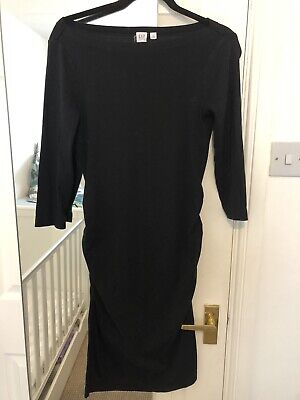 Gap Maternity Dress Black Boat Neck Size S • 1.30£