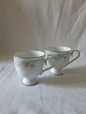 Vintage 1980's Noritake Limerick 3063 Pattern Tea Cups X 2 Tea Sets Lovely  • 4.50£