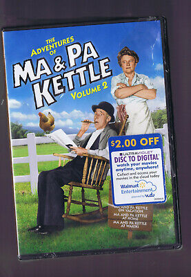 $8.99 • Buy The Adventures Of Ma And Pa Kettle - Volume 2 (DVD, 2-Disc Set) NEW- But Torn