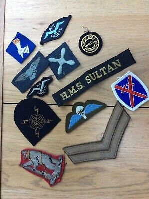 Assorted British Army & Royal Navy Cloth Badges, WW2 & After - 99p Start • 1.04£