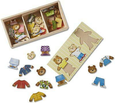 Melissa & Doug Wooden Bear Family Dress-Up Puzzle | Puzzles | Wooden Toy | 3+ |  • 6.50£