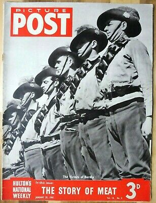 Picture Post Magazine, January 25, 1941, The Story Of Meat, Victors Of Bardia. • 2.95£
