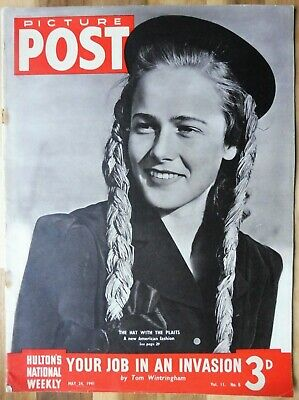 Picture Post Magazine, May 24, 1941, Your Job In An Invasion. • 2.95£