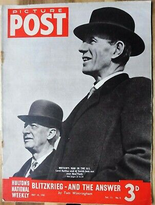Picture Post Magazine, May 10, 1941, Blitzkrieg - And The Answer, Lord Halifax. • 2.95£