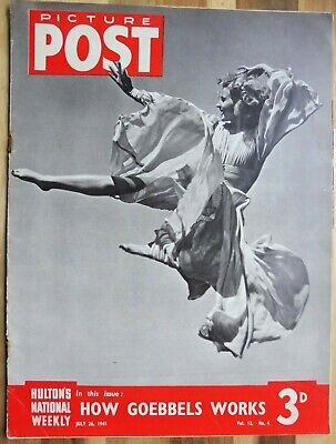 Picture Post Magazine, July 26, 1941, How Goebbels Works By Kingsley Martin. • 2.95£