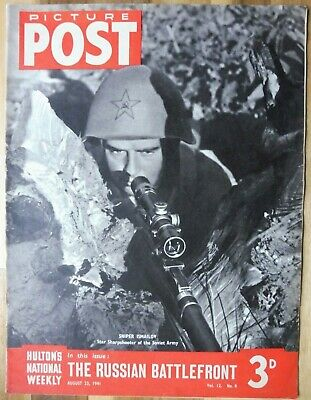 Picture Post Magazine, August 23, 1941, The Russian Battlefront. • 2.95£