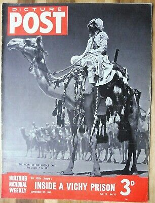 Picture Post Magazine, September 27, 1941, Inside A Vichy Prison. • 2.95£