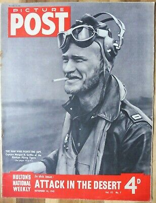 Picture Post Magazine, November 14, 1942, Attack In The Desert. • 2.95£