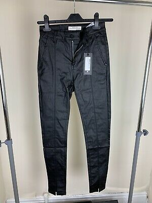 Coated Leather Skinny Jeans With Split Size 6/8 • 8£
