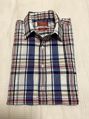 AU20 • Buy RM Williams Mens Regular Fit Check Short Sleeve Shirt ~ Size XXL