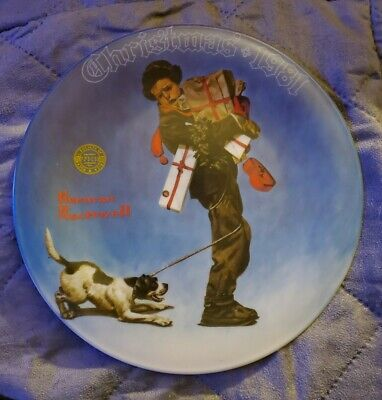 $ CDN1.28 • Buy Norman Rockwell  Wrapped Up In Christmas   Collector Plate 1981