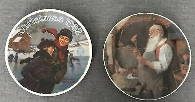 $ CDN6.47 • Buy Lot Of 2 Norman Rockwell Collector Plates Christmas 1982 & 1984, Vintage, Lovely