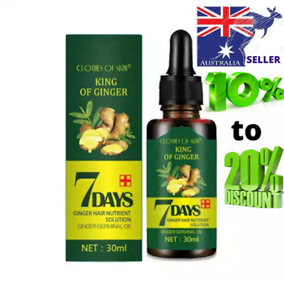 AU15.99 • Buy Regrowth 7Day Ginger Germinal Hair Growth Serum Hairdressing Oil Loss Treatment