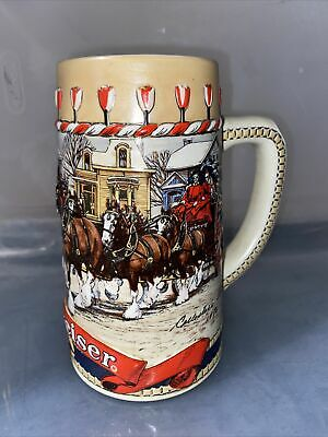 $ CDN25.95 • Buy 1986 Budweiser Christmas Beer Stein Clydesdales B Series Collectible Mug