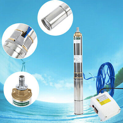 AU175.17 • Buy 1HP Submersible Deep Well Pump Submersible Bore Water Irrigation Stainless Steel