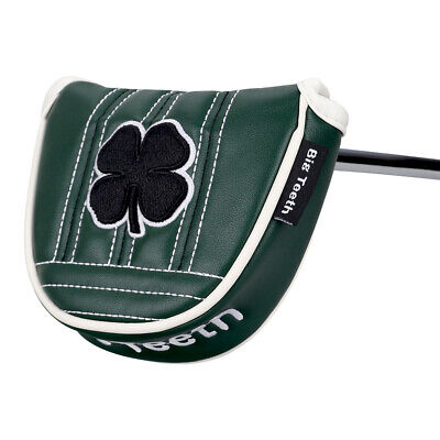 £24.95 • Buy Black Lucky Clover Mallet Putter Cover Headcover For Taylormade Odyssey Magnetic