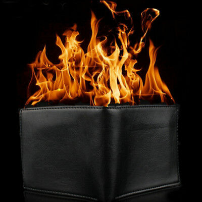 Magic Trick Flame Fire Wallet Leather Magician Stage Perform Street Prop Sho PD • 7.31£