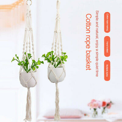 $ CDN15.30 • Buy Horticulture Flower Pot Cotton Rope Hanger Flower Pot Hanging Basket Net Holder